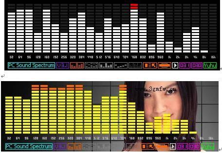 首页 多媒体类 音频处理 → 电脑实时声音频谱显示软件 v1.