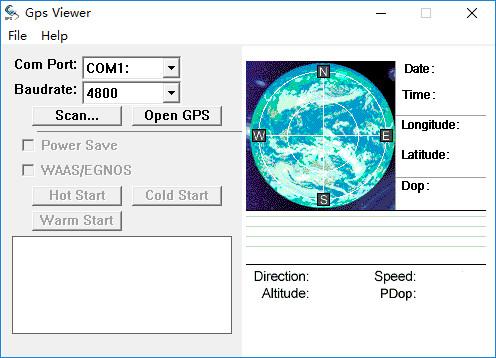 gps viewer(串口搜索查看星图) v1.8 绿色版 0