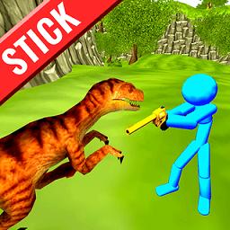 火柴人战争狩猎恐龙手游