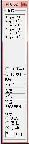 tpfancontrol(风扇控制软件) v0.62 中文版 0
