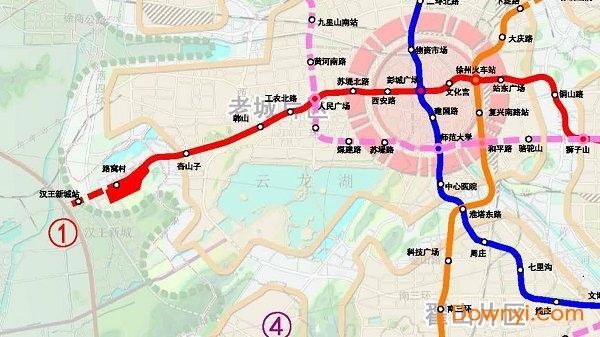 徐州地铁规划图最新版