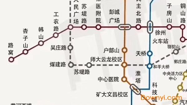 徐州地铁最新线路图