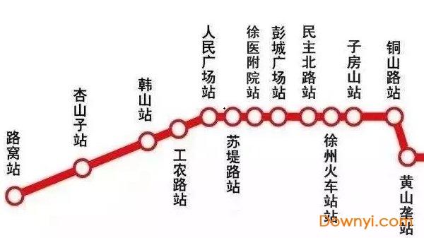 徐州地铁一号线线路图最新版 2019版 0