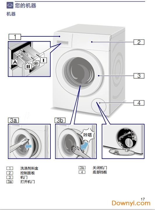 西�T子iq300洗衣�C�f明���D解