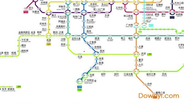 广州地铁规划图2025版