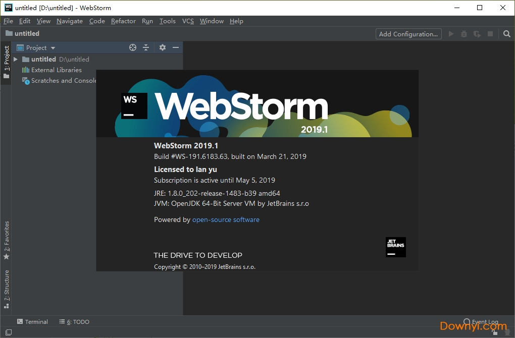 webstorm2019中文破解版 v2019.1 最新安装版 0