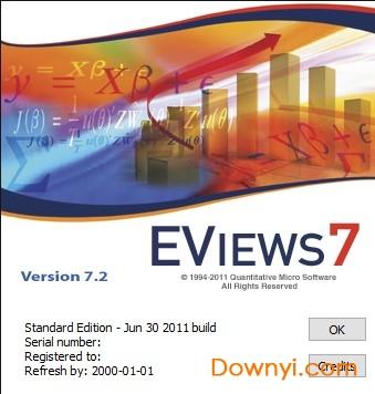 Eviews7.2完全破解版