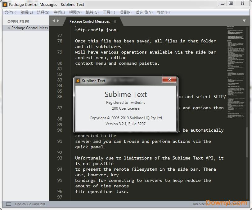 sublime text 3汉化版