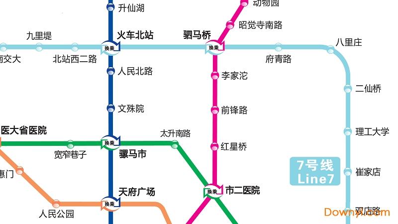 2019成都地铁线路图可放大版