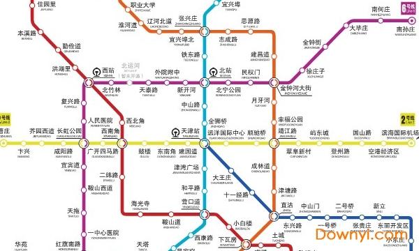 2019天津地铁线路图高清版 最新版 0