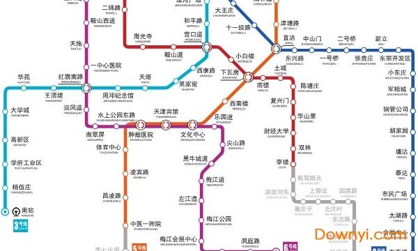 天津地铁线路图2019可放大版