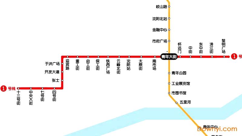 沈阳地铁线路图2019版