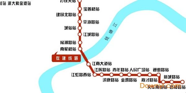 杭州地铁5号线线路图完整版 高清版 0