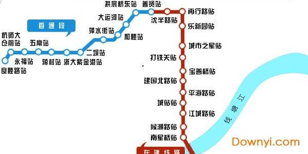 杭州地铁5号线线路图2019版