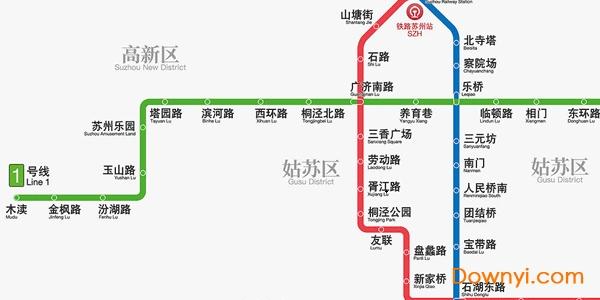 苏州地铁线路图2019版 最新版 0