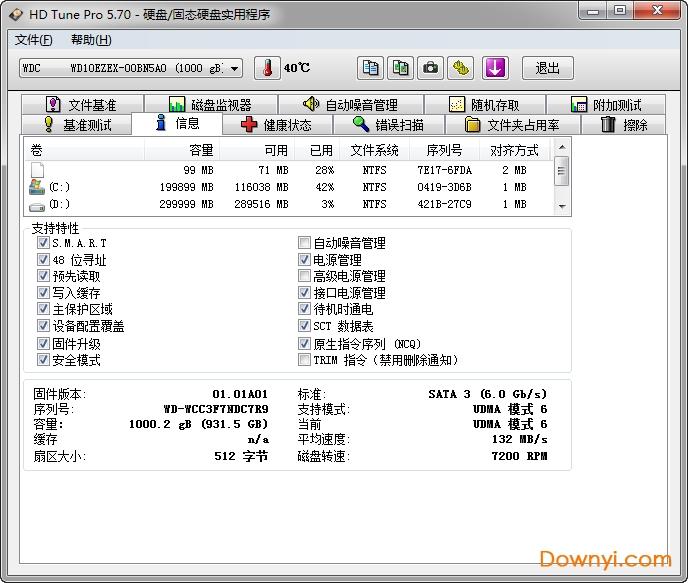 hdtunepro中文版(硬盘检测工具) v5.7 专业版 0