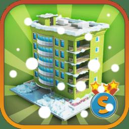 城市岛屿冬季无限金币版(city island winter edition)
