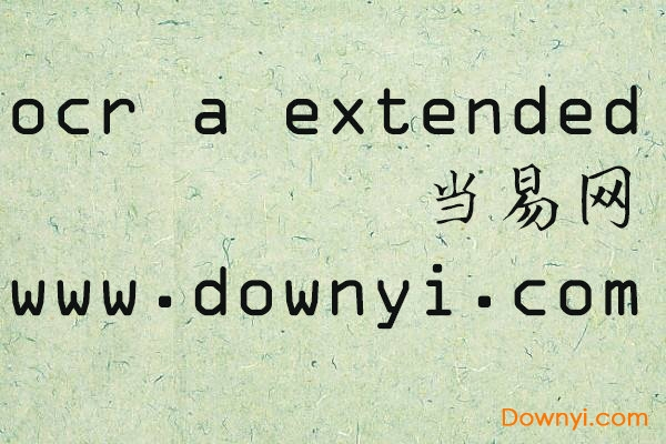 ocr a extended字体 免费版 0