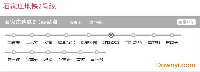 石家庄地铁线路图2号线