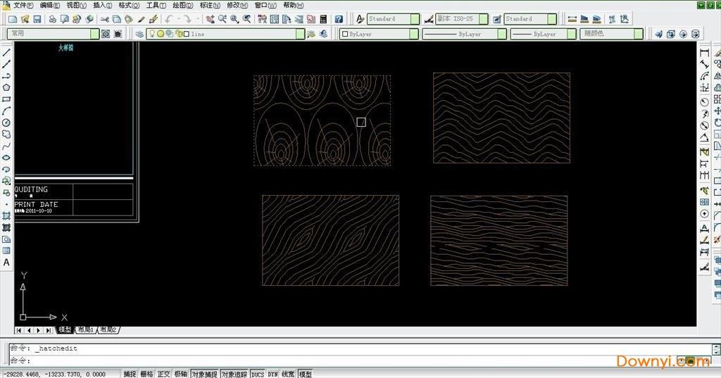 cad木纹填充图案