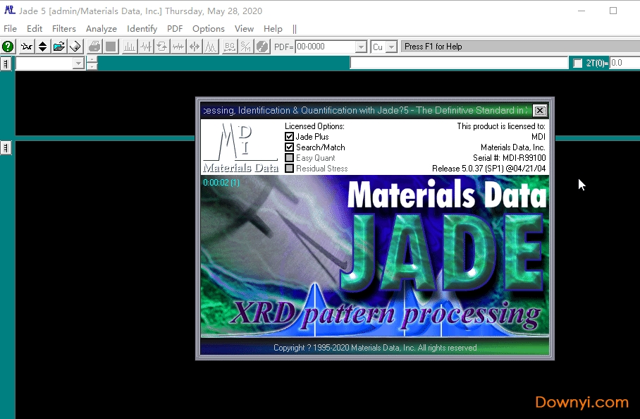 Mdi Jade 5.0(xrd分析�件)