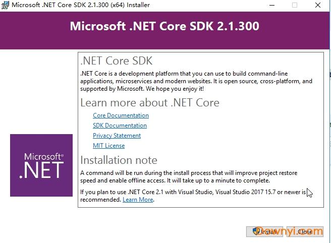 Microsoft.Net Core Sdk2.1