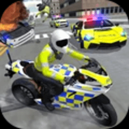 警车驾驶骑摩托车游戏