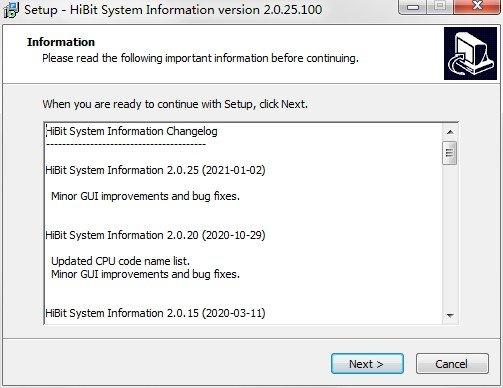 硬件信息检测工具(hibit system information) v2.0.25 官方最新版 0