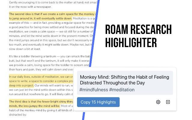 Roam Highlighter 谷歌插件