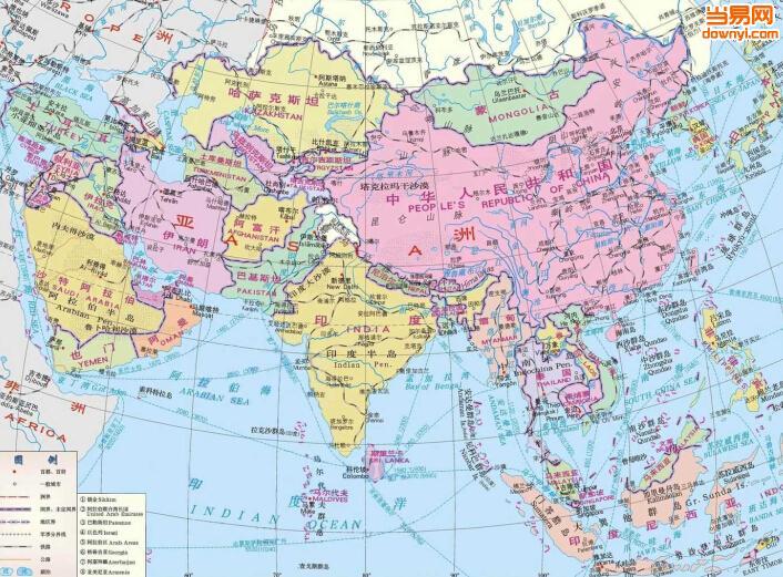 西亚地图全图,中亚西亚地图,西亚地图全图高清版