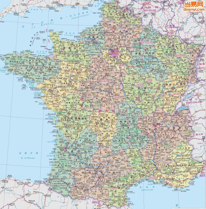 法国地图 中文版