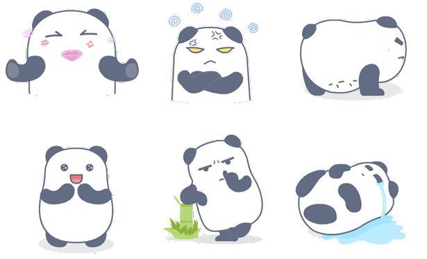 糊糊微信表情包,一只可爱的白色熊猫,表情有:yo,bai,不能再帅了,亲,晕,做俯卧撑,微笑,扣鼻子,心碎躺着哭,呲牙笑,捂眼,好汉饶命,疑问,扯耳朵,献花,出粗气,难过的回头,吃饱了,摆POSE,打哈欠。