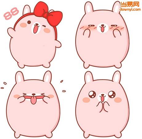 表情包gif   唛萌兔微信表情包介绍: 唛萌兔微信表情包,表情有哼,加油图片
