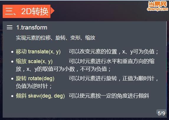 鼠标滚轮切换页面内容(css3)