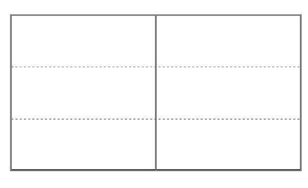 四线三格卡片空白模板 word版图片
