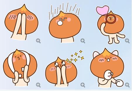 可爱的糖小栗qq表情下载-当易网表情包青蛙动态图图片