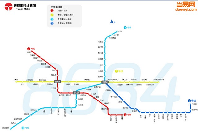 天津地铁线路图