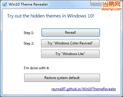 win10 theme revealer